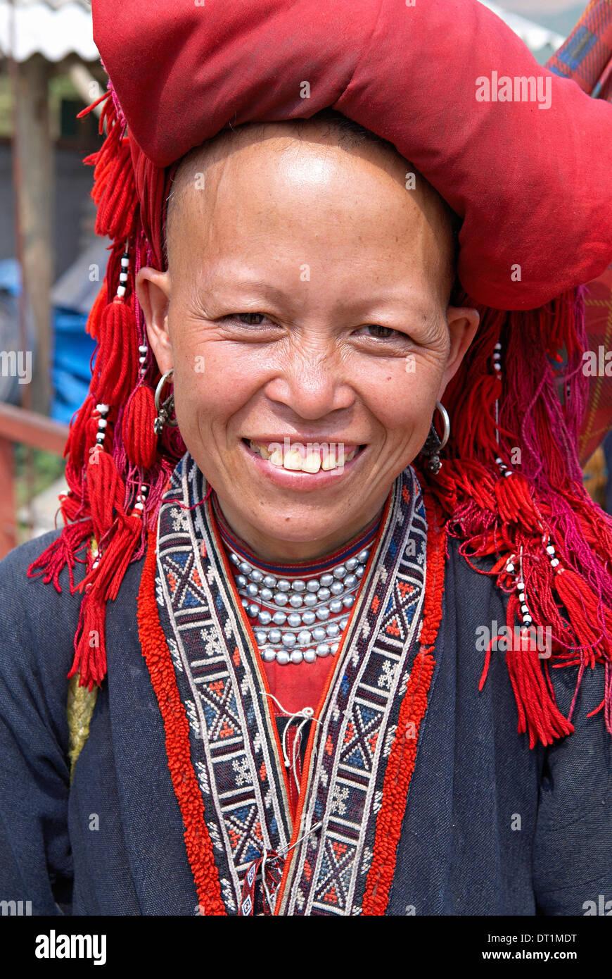 Red Dao ethnic group, Sapa area, Tonkin, Vietnam, Indochina, Southeast Asia, Asia - Stock Image