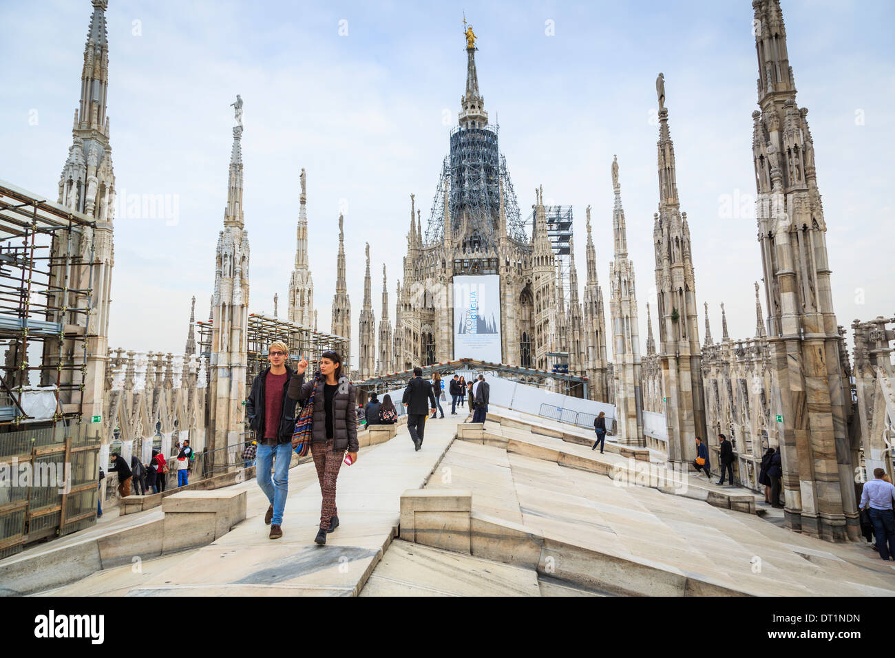 Duomo (Cathedral), Milan, Lombardy, Italy, Europe - Stock Image