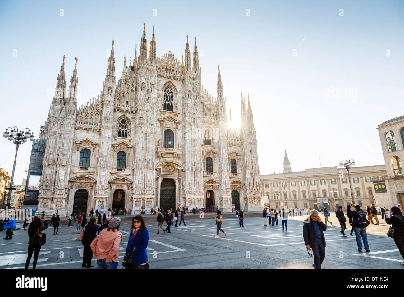 Duomo (Cathedral), Milan, Lombardy, Italy, Europe Stock Photo
