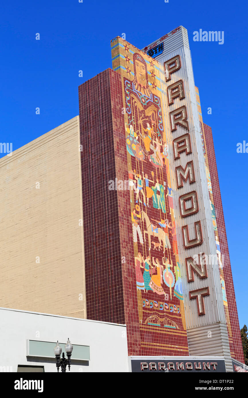 Historic Paramount Theatre, Oakland, California, United States of America, North America - Stock Image