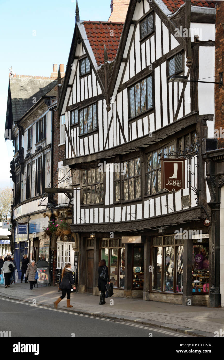 The 15th century half-timbered house of Sir Thomas Herbert Bart, Pavement, York, Yorkshire, England, United Kingdom, Europe - Stock Image