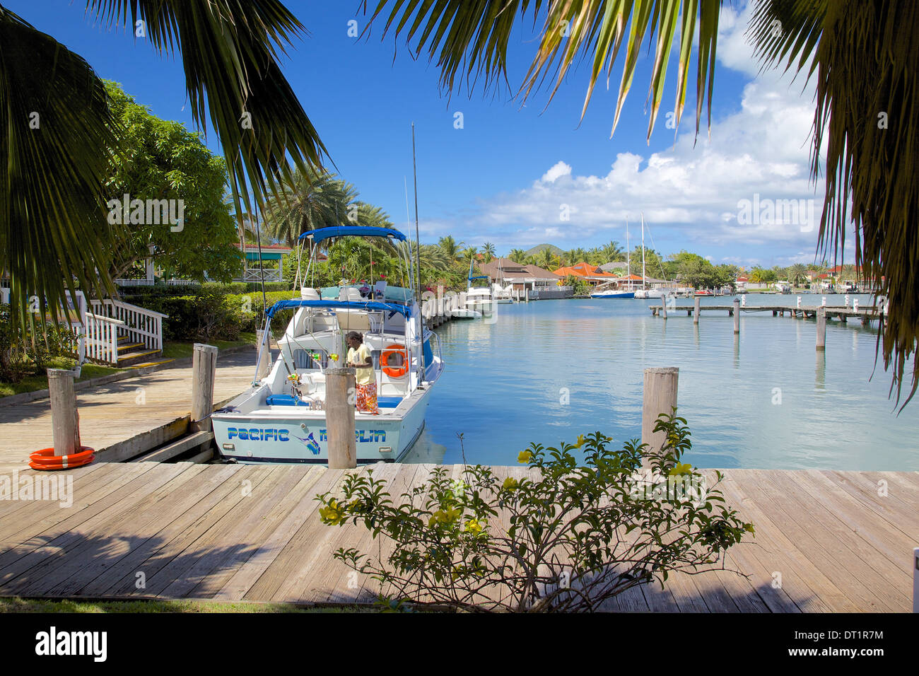 Harbour, Jolly Harbour, St. Mary, Antigua, Leeward Islands, West Indies, Caribbean, Central America - Stock Image