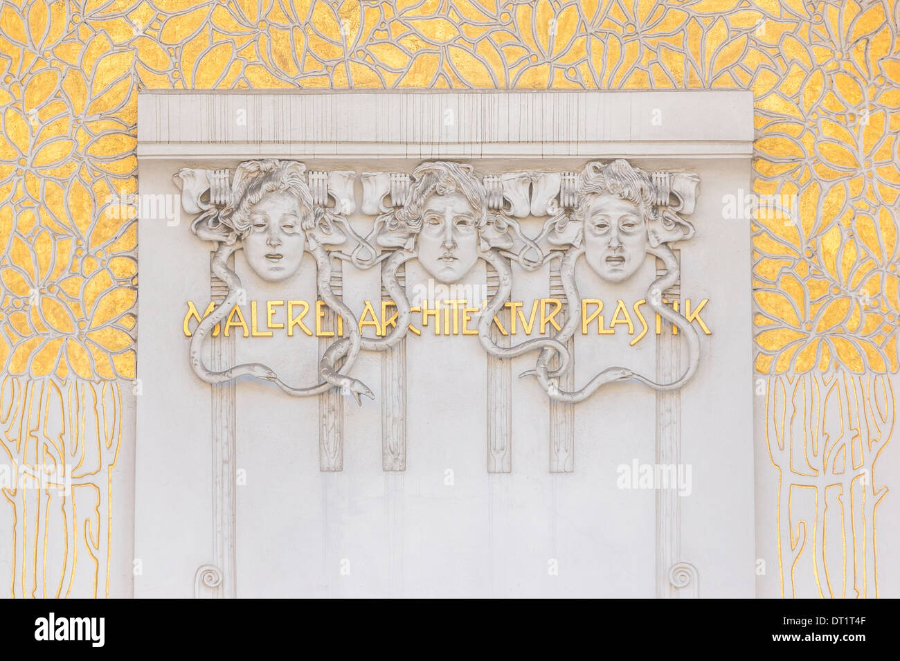 entrance of the exhibition hall of the _viennese secession_, above the portal the motto of the movement: _ to every age it`s art - Stock Image