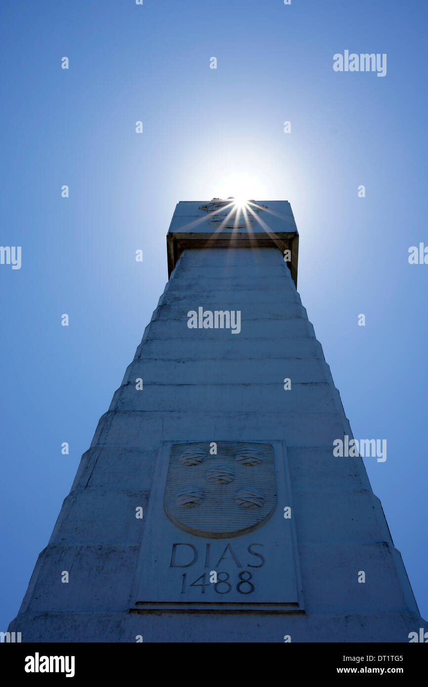 Bartolomeu Dias Monument  at Cape Point in the Cape of Good Hope nature reserve. - Stock Image