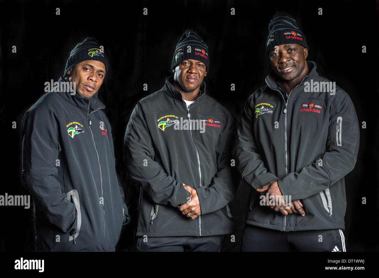 Jamaican Bobsled Team Gains Sponsorship Just in Time for Sochi Olympics - Stock Image