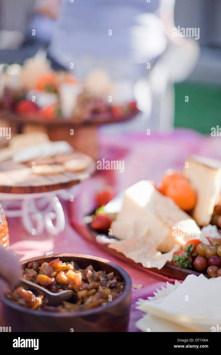Food Buffet Table Wedding Reception Stock Photos & Food Buffet Table ...