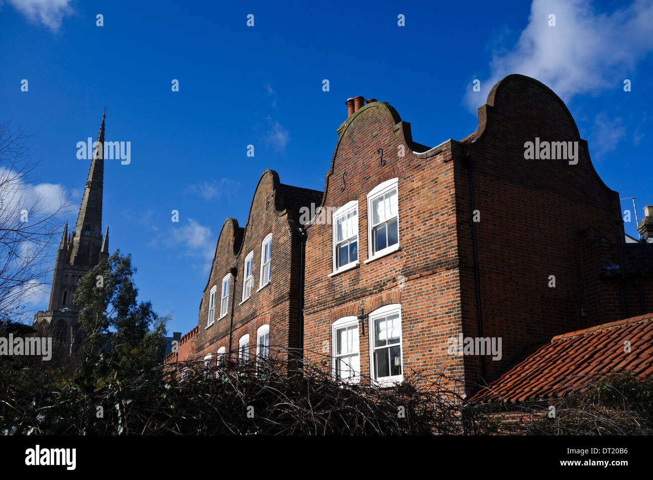 Dutch gable on house in Norwich - Stock Image