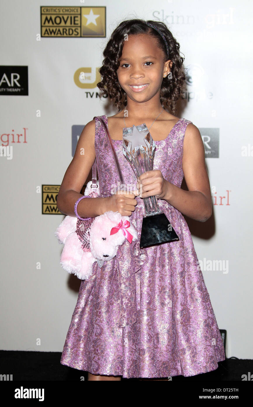 Quvenzhane Wallis at the 18th Annual Critics' Choice Movie Awards Press Room, Barker Hangar, Santa Monica, CA 01-10-13 - Stock Image