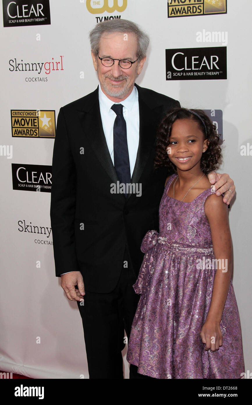 Steven Spielberg and Quvenzhane Wallis - Stock Image