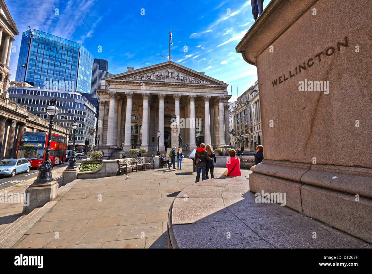 Wellington Erected June 1844 {On a brass plaque on the base of the plinth, at the back:} - Stock Image