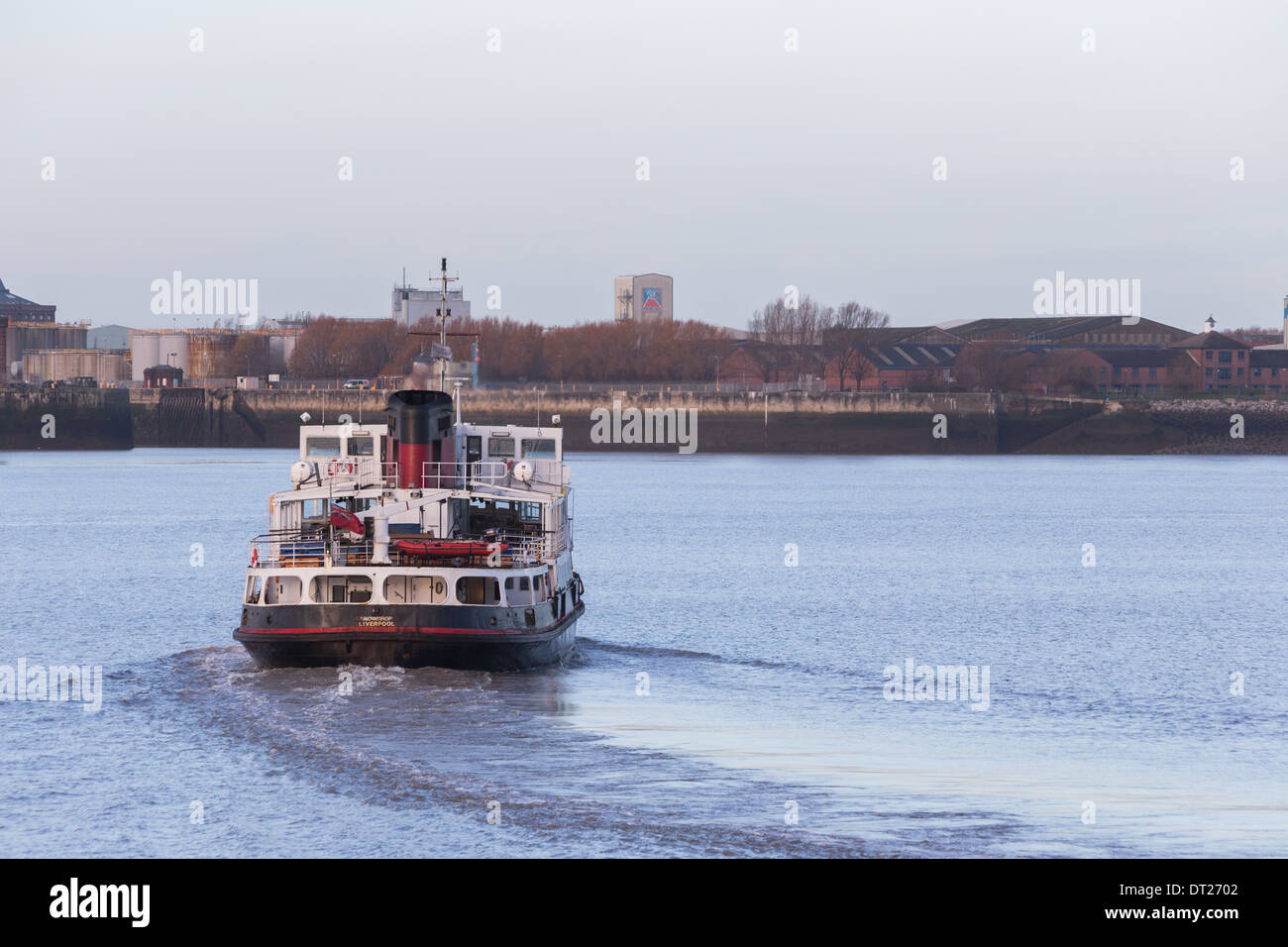 MV Snowdrop, one of the Mersey Ferries on the River Mersey. - Stock Image