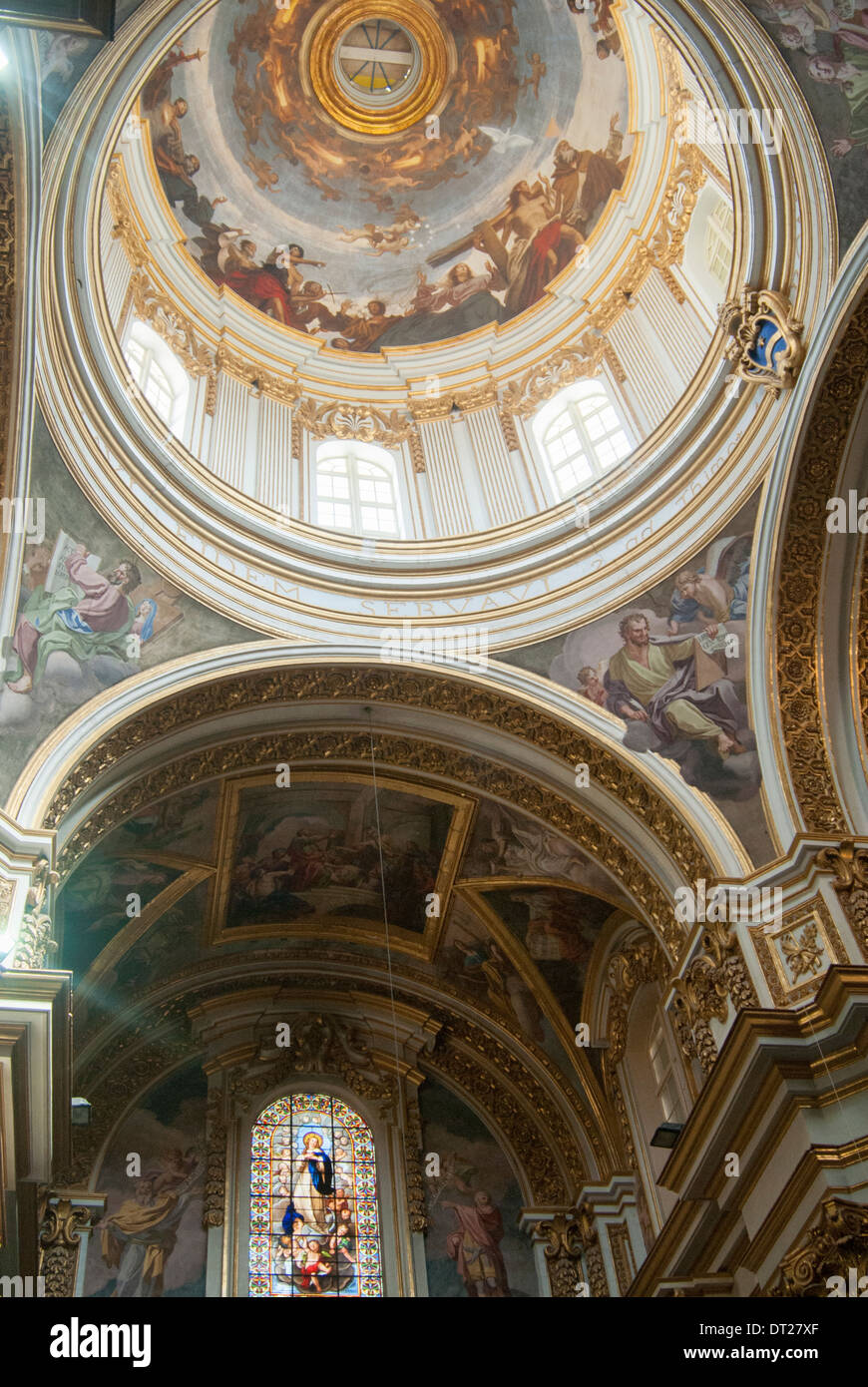 interior of st paul s cathedral in the walled city of mdina malta