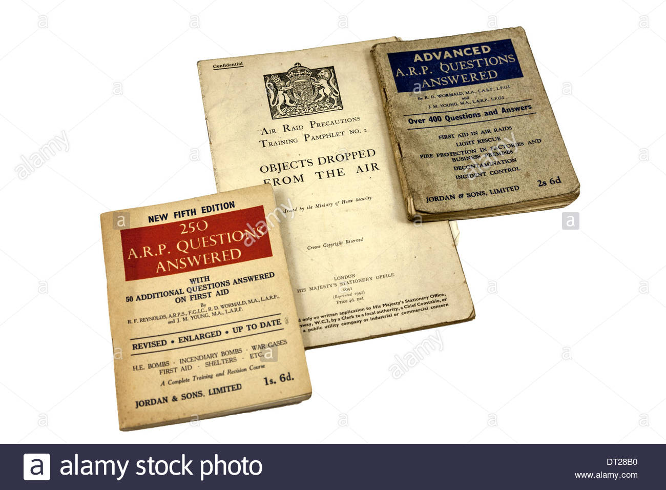 WWII booklets - Stock Image