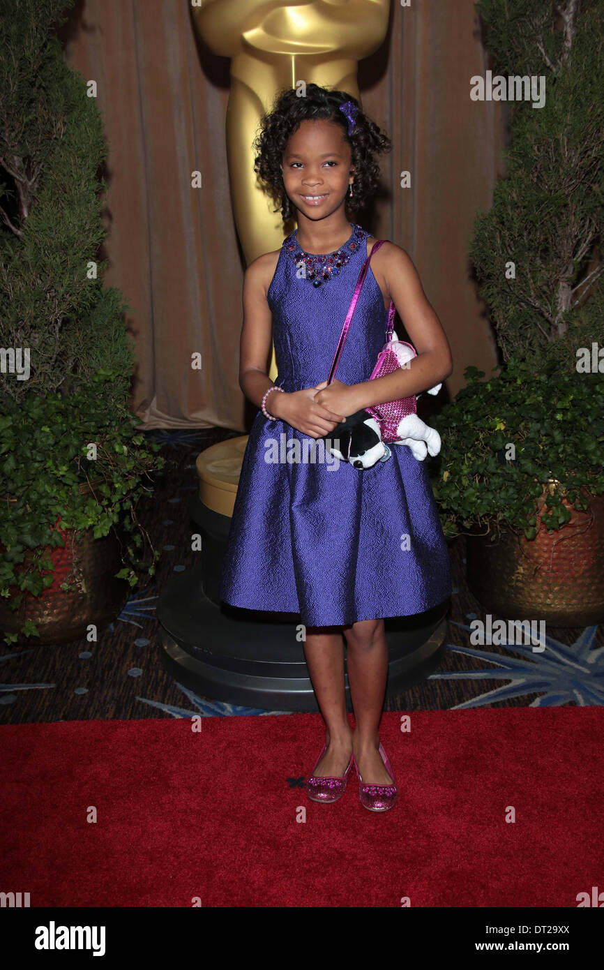 Quvenzhane Wallis at the 85th Academy Awards Nominations Luncheon, Beverly Hilton, Beverly Hills, CA 02-04-13 - Stock Image