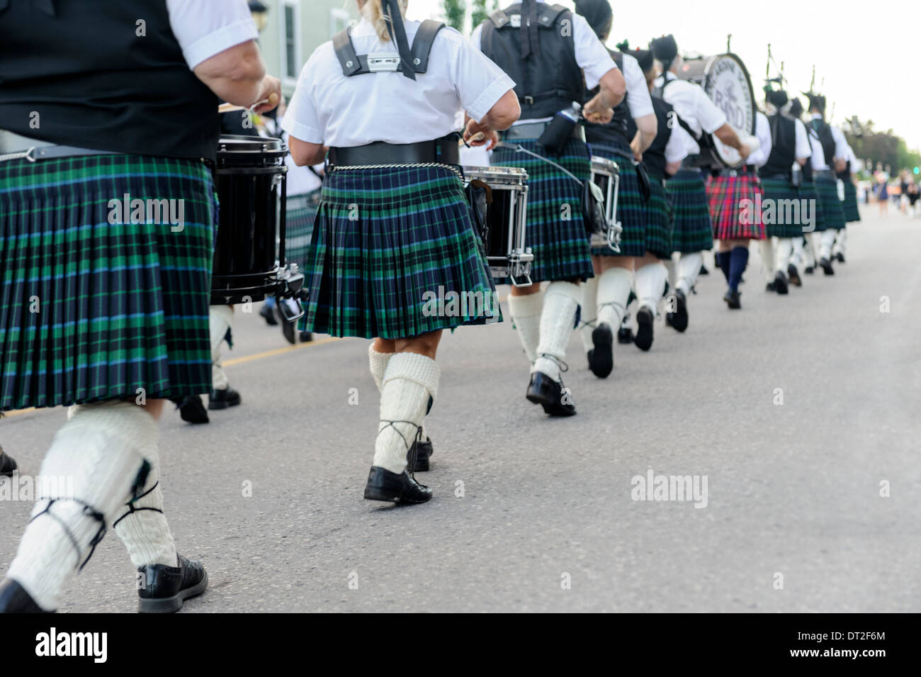 Pipers Parade - Stock Image