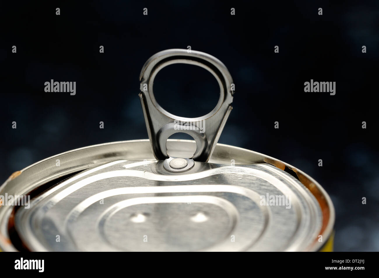 Tin can Ring pull - Stock Image