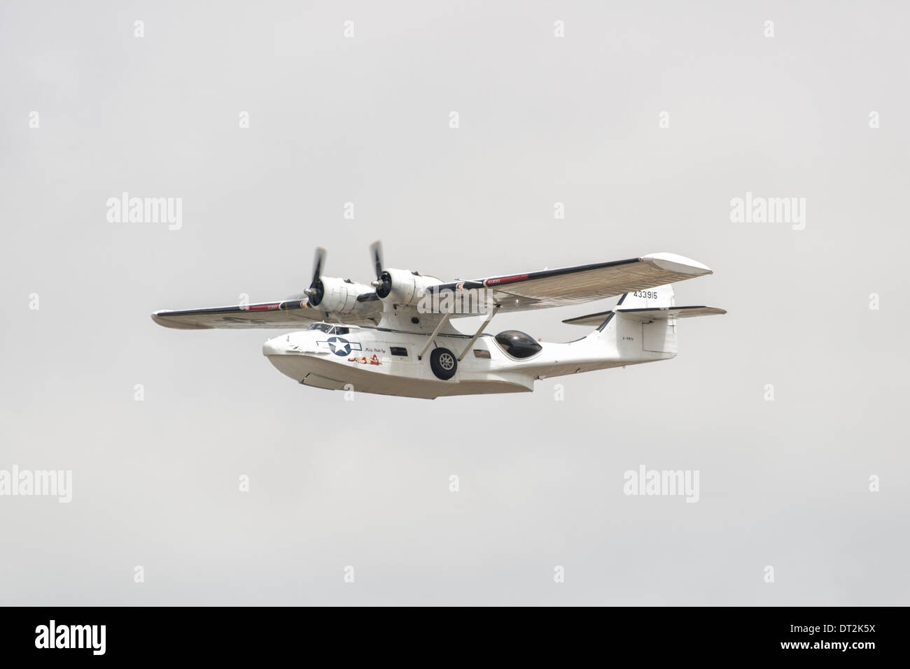 Plane Sailing's Consolidated PBY Catalina seaplane displays at at the 2013 Royal International Air Tattoo. - Stock Image
