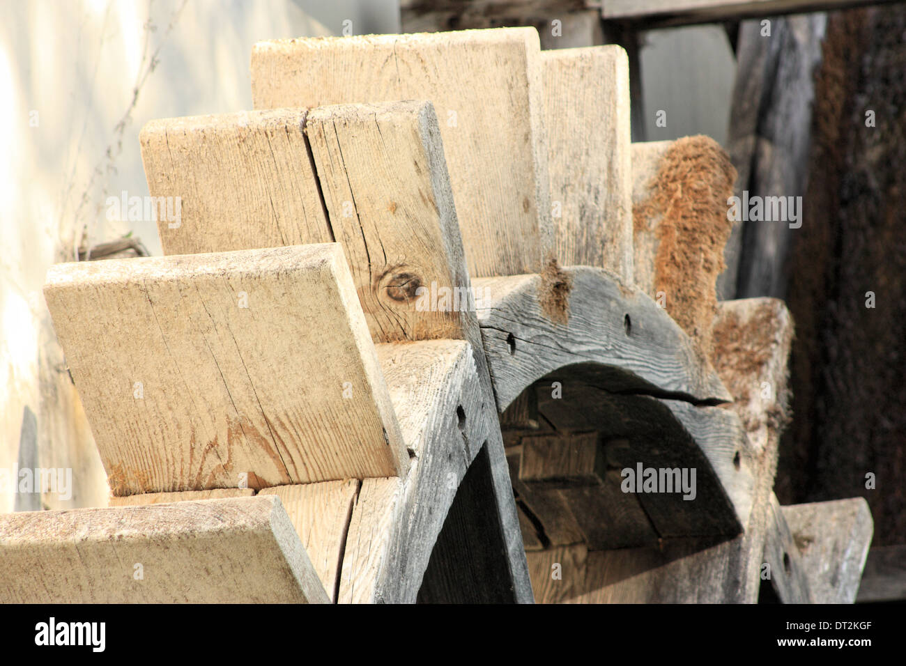 Old water mill wheel - Stock Image