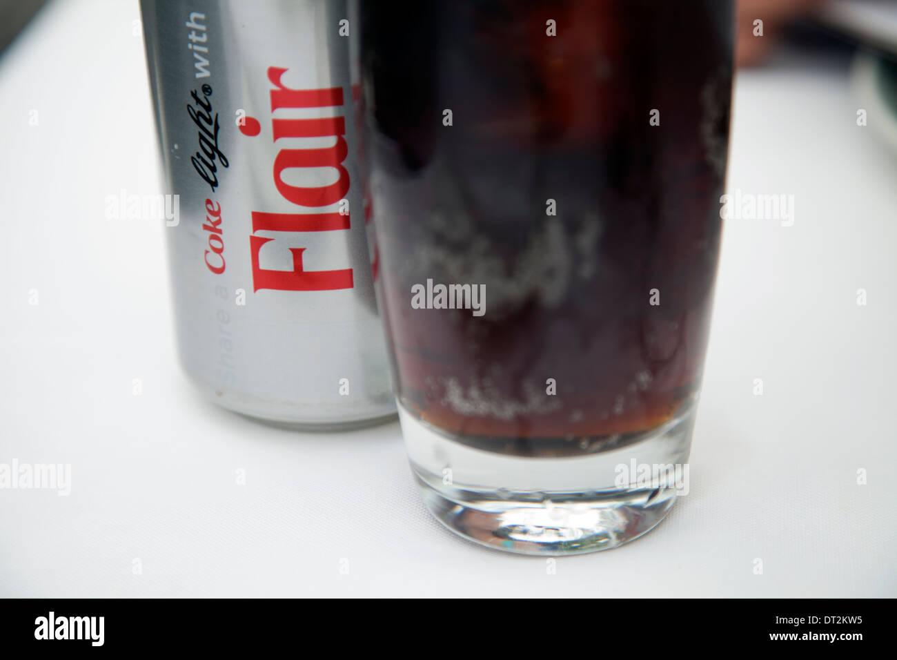 Coke Light with Flair Can - Stock Image