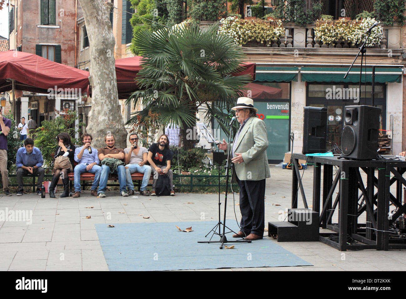 '100 Thousand Poets for Change' 2013 in Venice - Stock Image