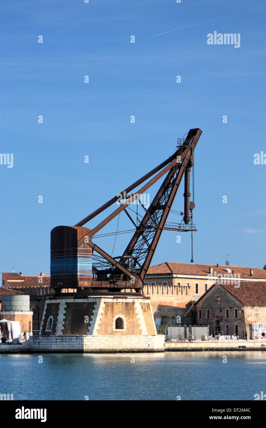 The old Venetian shipyard Arsenale - Stock Image