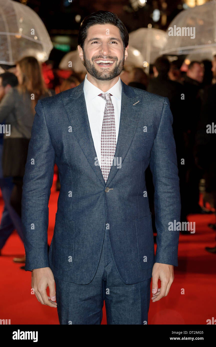 Kayvan Novak arrives for the World Premiere of Cuban Fury, at a central London cinema, London. - Stock Image