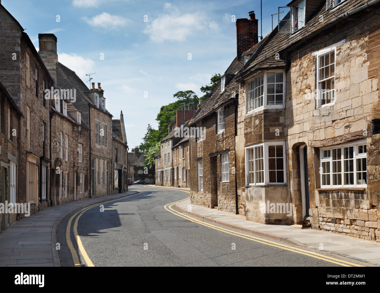 Cottages on North Street in Oundle. Northamptonshire. England. UK. - Stock Image