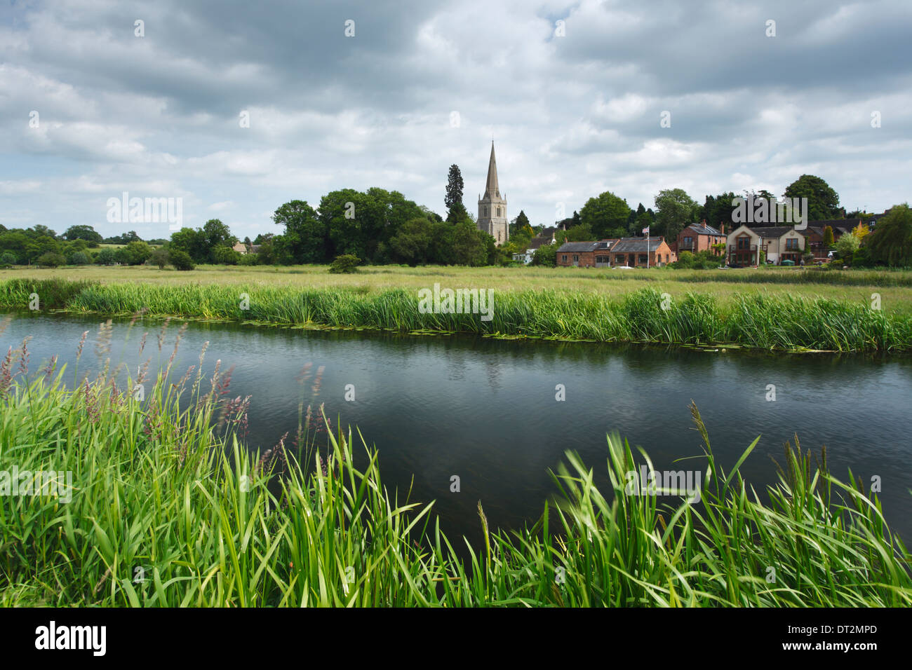 River Nene at Denford. Nene Valley. Northamptonshire. England. UK. - Stock Image