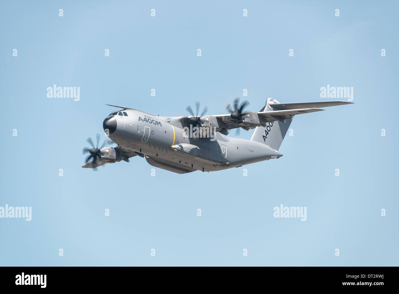 Airbus A400M Atlas, Europe's new turboprop powered military transport aircraft, displays at the 2013 RIAT - Stock Image