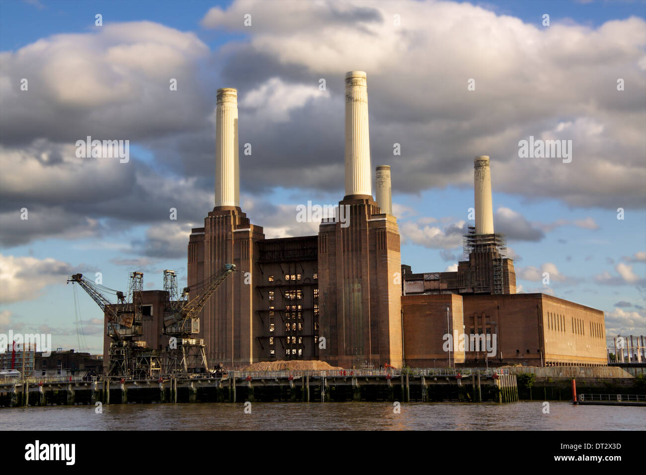 Abandoned powerstation in London, an iconic building of