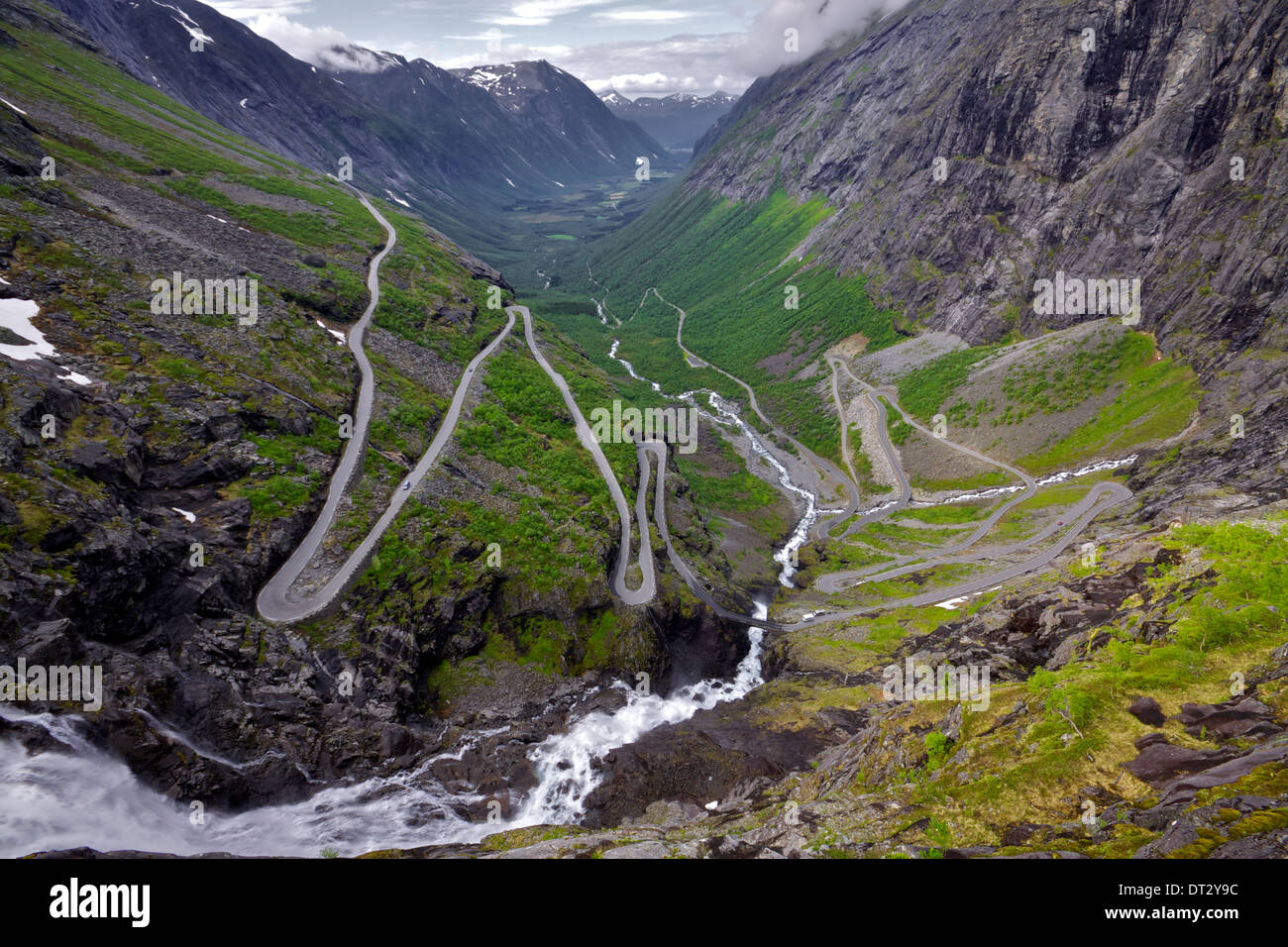 One of the most dramatic mountain passes in the world, Trollstigen in Norway - Stock Image