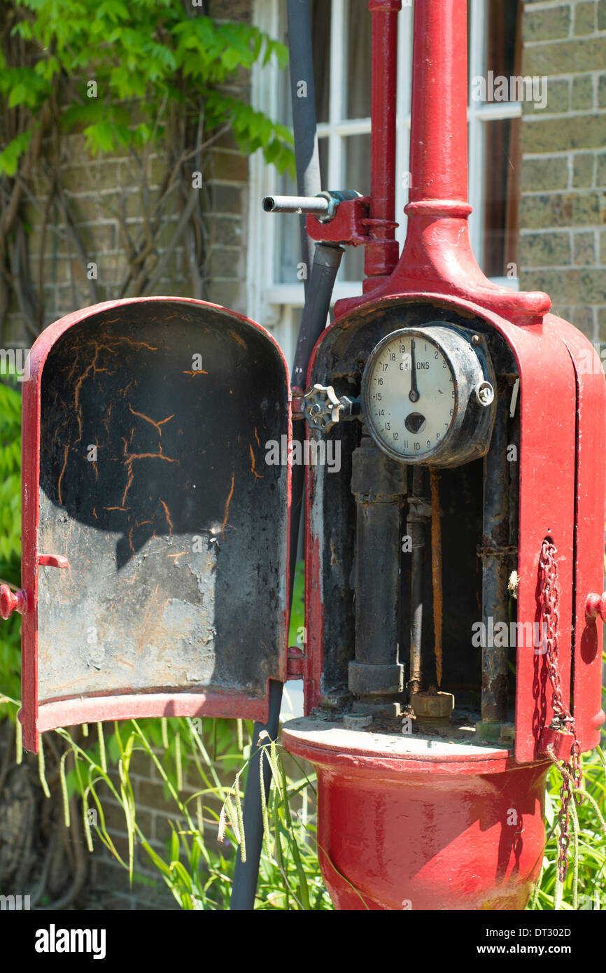 Old Petrol Pump, Dorset - Stock Image