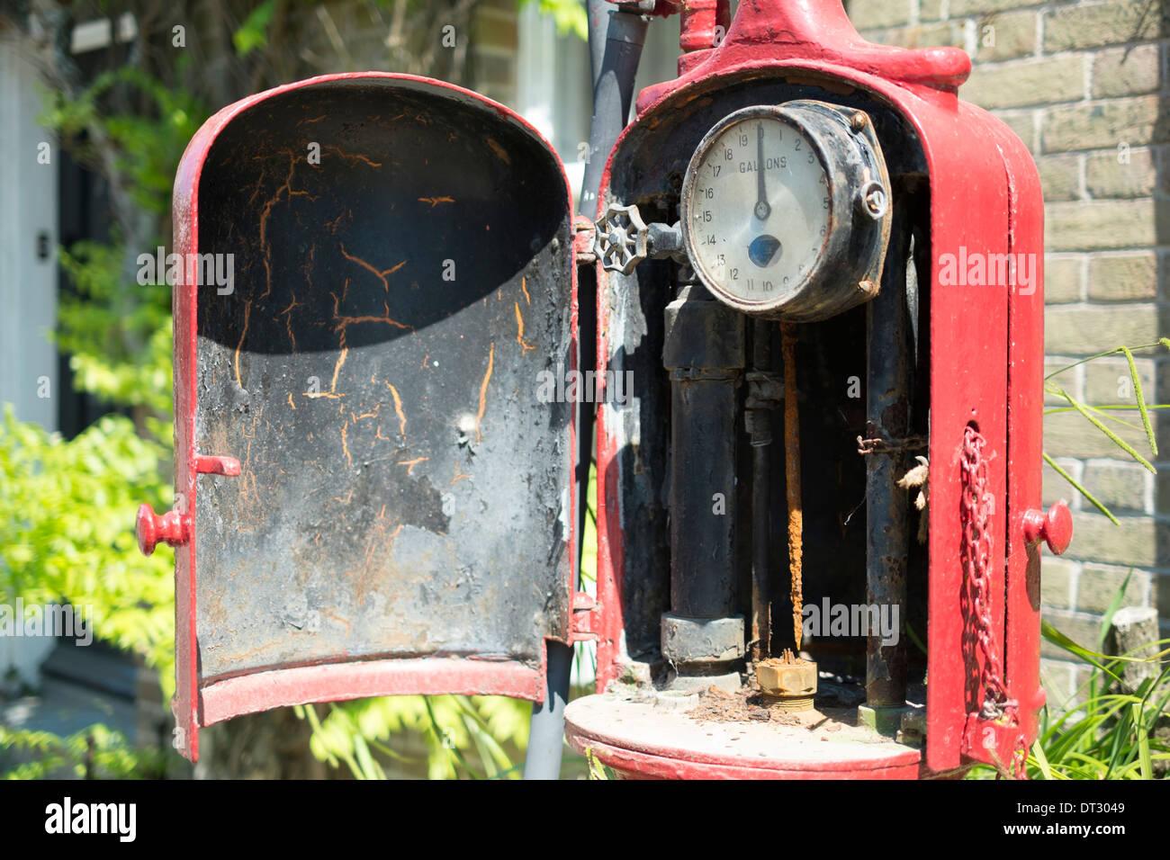 Old Petrol Pump, Dorset - Stock Image