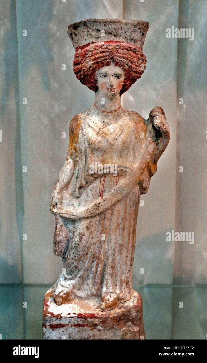 Goddess Aphrodite 400-375 BC Greek Greece - Stock Image