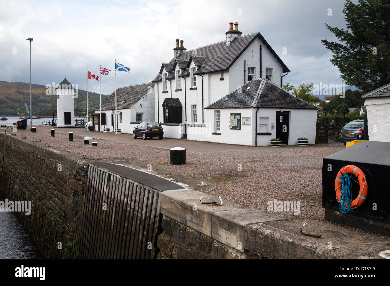 Corpach the entrance to the Caledonian Canal, Fort William, Scotland Stock Photo