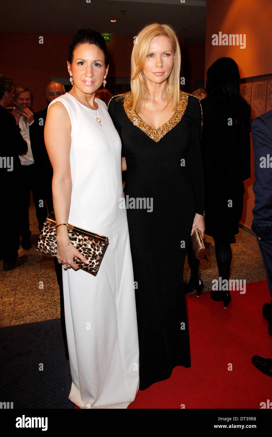 Minu Barati Fischer and Veronica Ferres during the opening party at the 64th Berlin International Film Festival / Berlinale 2014 on February 6, 2014 in Berlin, Germany. - Stock Image