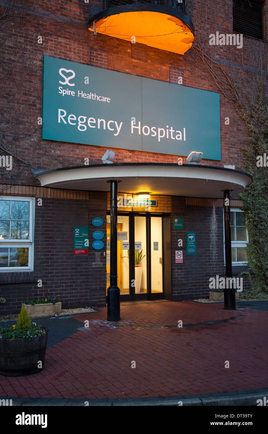 Entrance to the Regency Hospital in Macclesfield Cheshire England UK - Stock Image