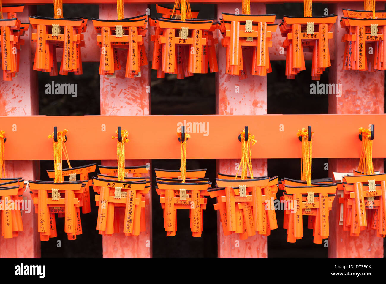 Offering gate, Fushimi Inari Shrine, Kyoto, Japan Stock Photo