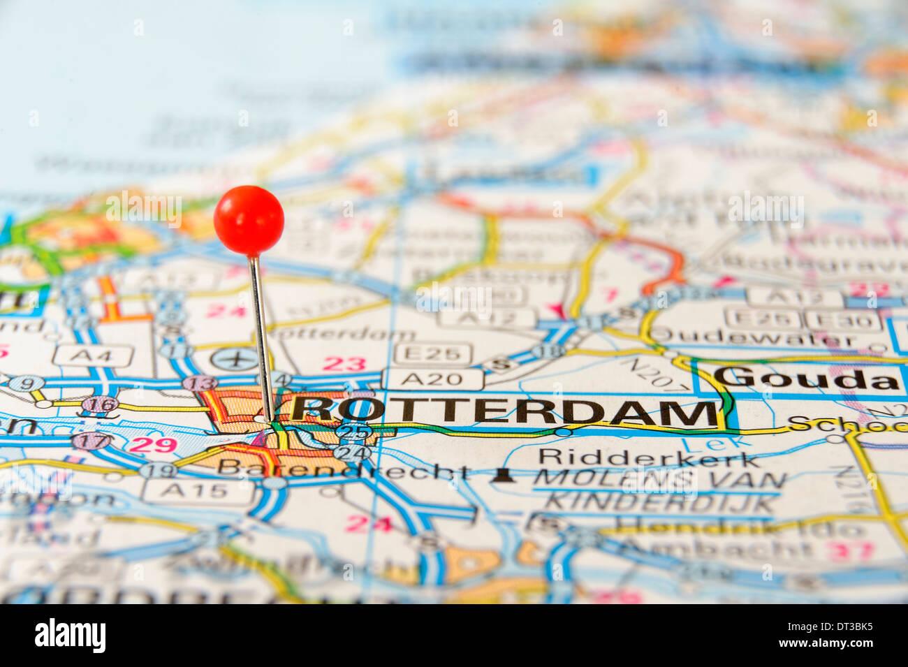 Rotterdam On The Map Stock Photo 66457865 Alamy