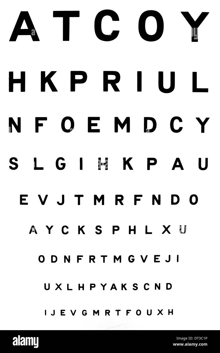 Eye Chart Cut Out Stock Images Pictures Alamy