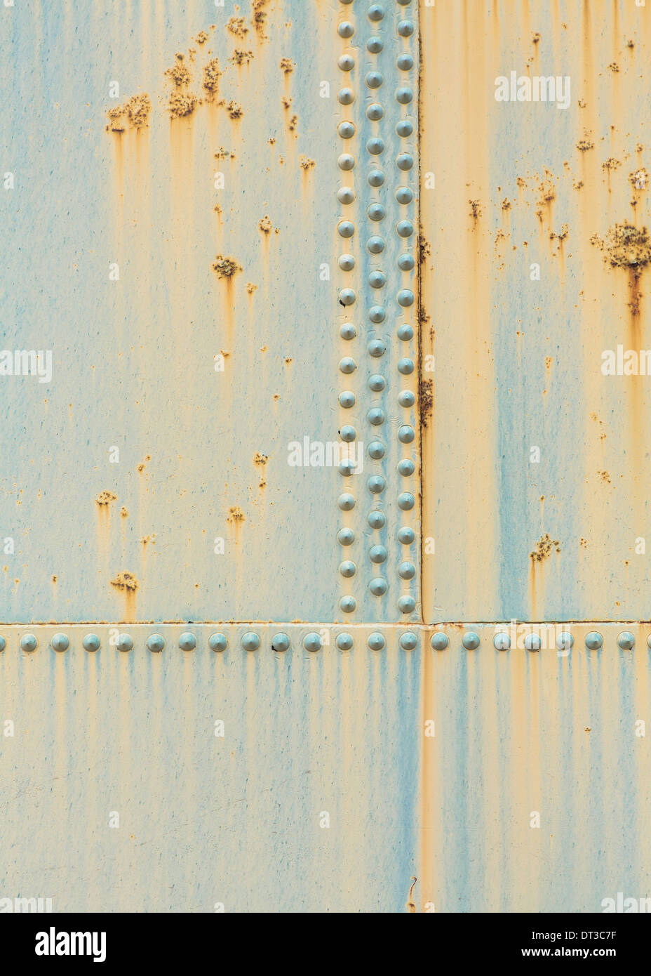 Detail of rusty oil storage container - Stock Image