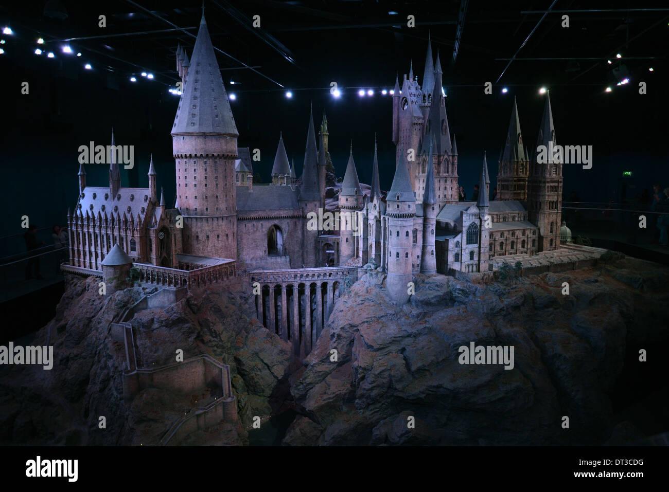 Harry Potter Studio Tour, Hogwarts castle - Stock Image