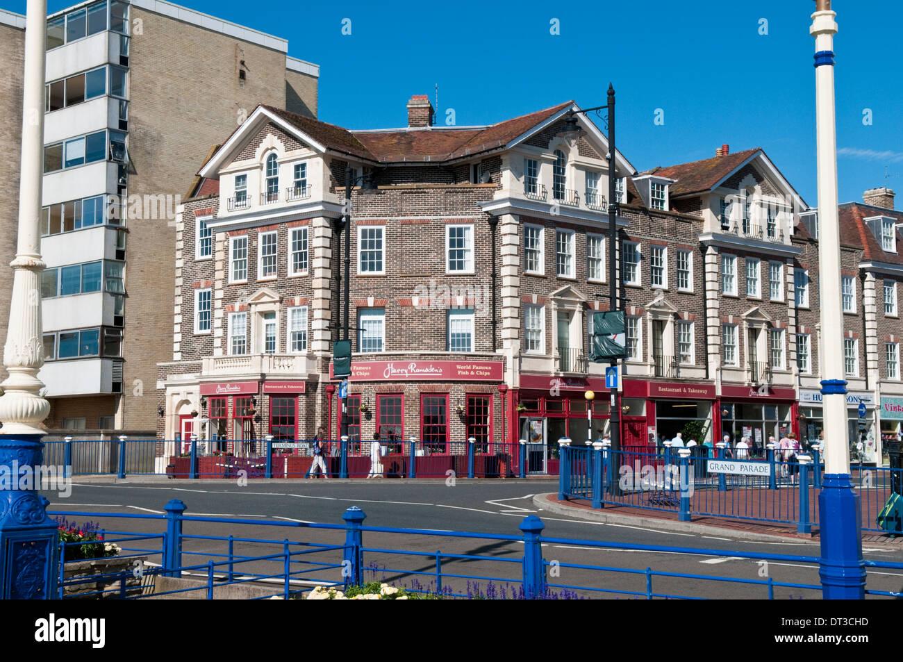 Harry Ramsden's fish restaurant on Eastbourne seafront, UK Stock Photo