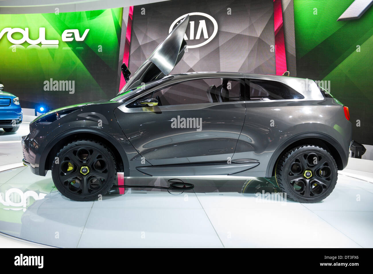 Chicago, USA. 6th Feb, 2014. The Kia Niro concept vehicle on display at the 2014 Chicago Auto Show on February 6, 2014. Credit: Max Herman / Alamy Live News - Stock Image