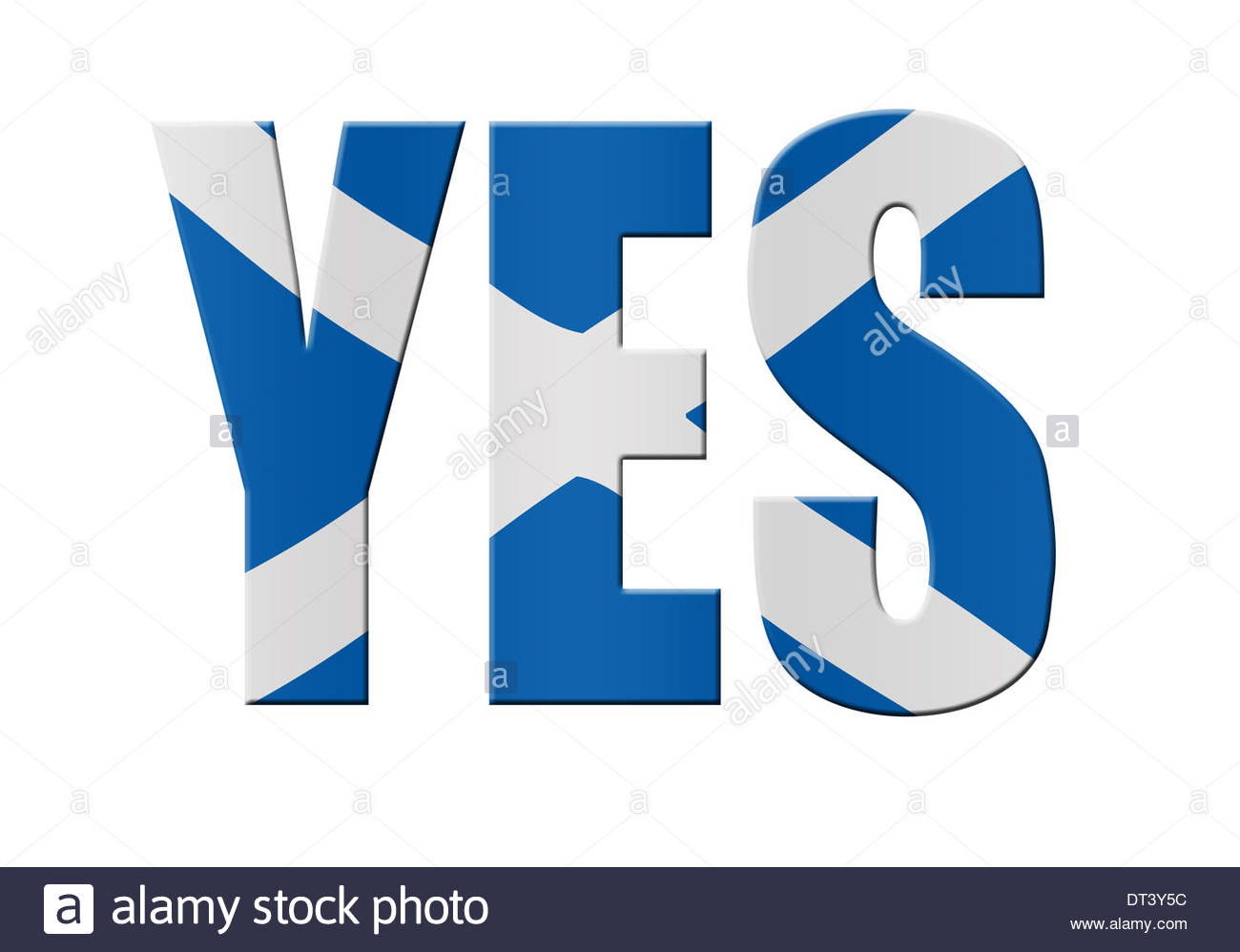 Digital Composition Concept - 18th September Scottish independence referendum. Scottish yes. - Stock Image
