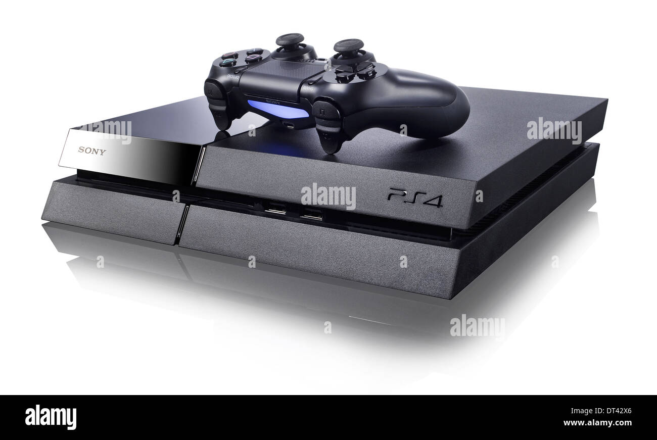 Sony Playstation  4 Video Game Console - Stock Image