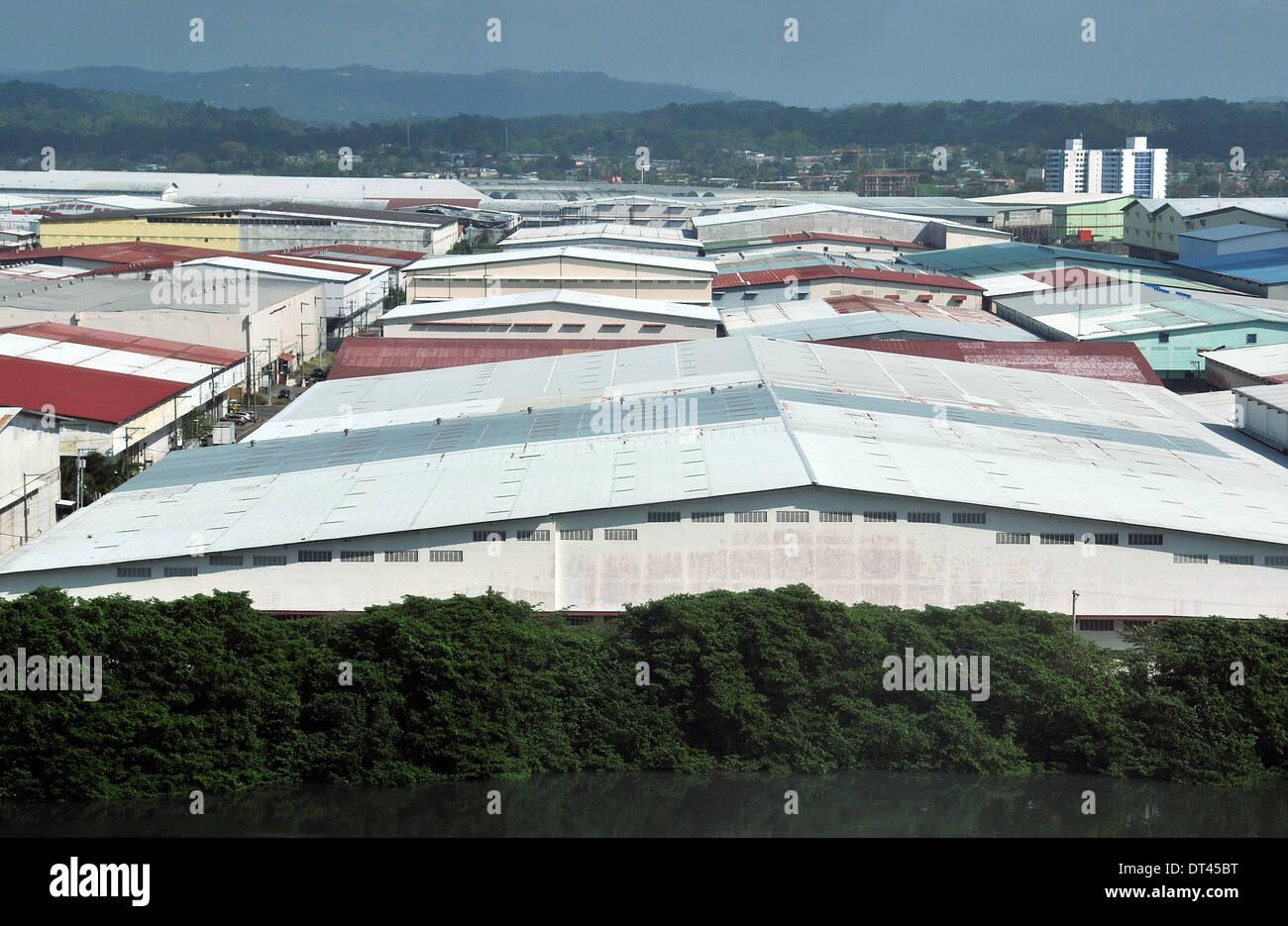 warehouses Zona Libre de Colon Panama - Stock Image