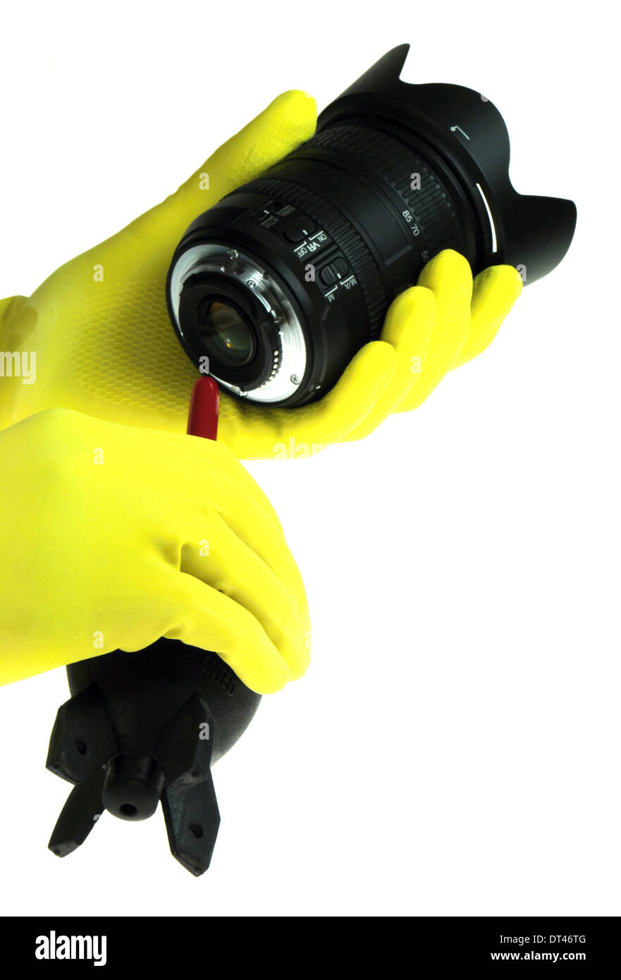 Optics cleaning tools - Stock Image