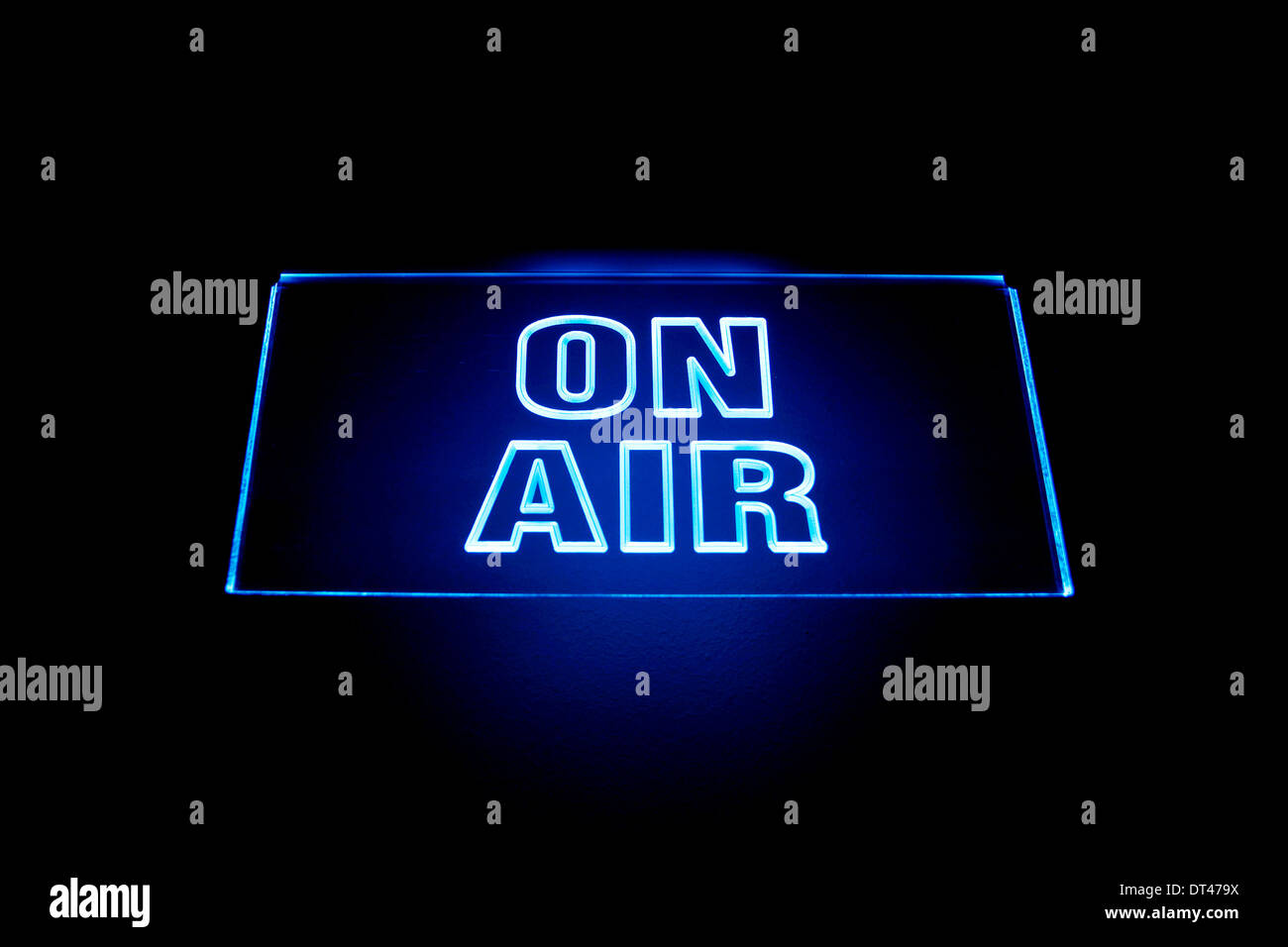 On air signal in a broadcasting studio - Stock Image