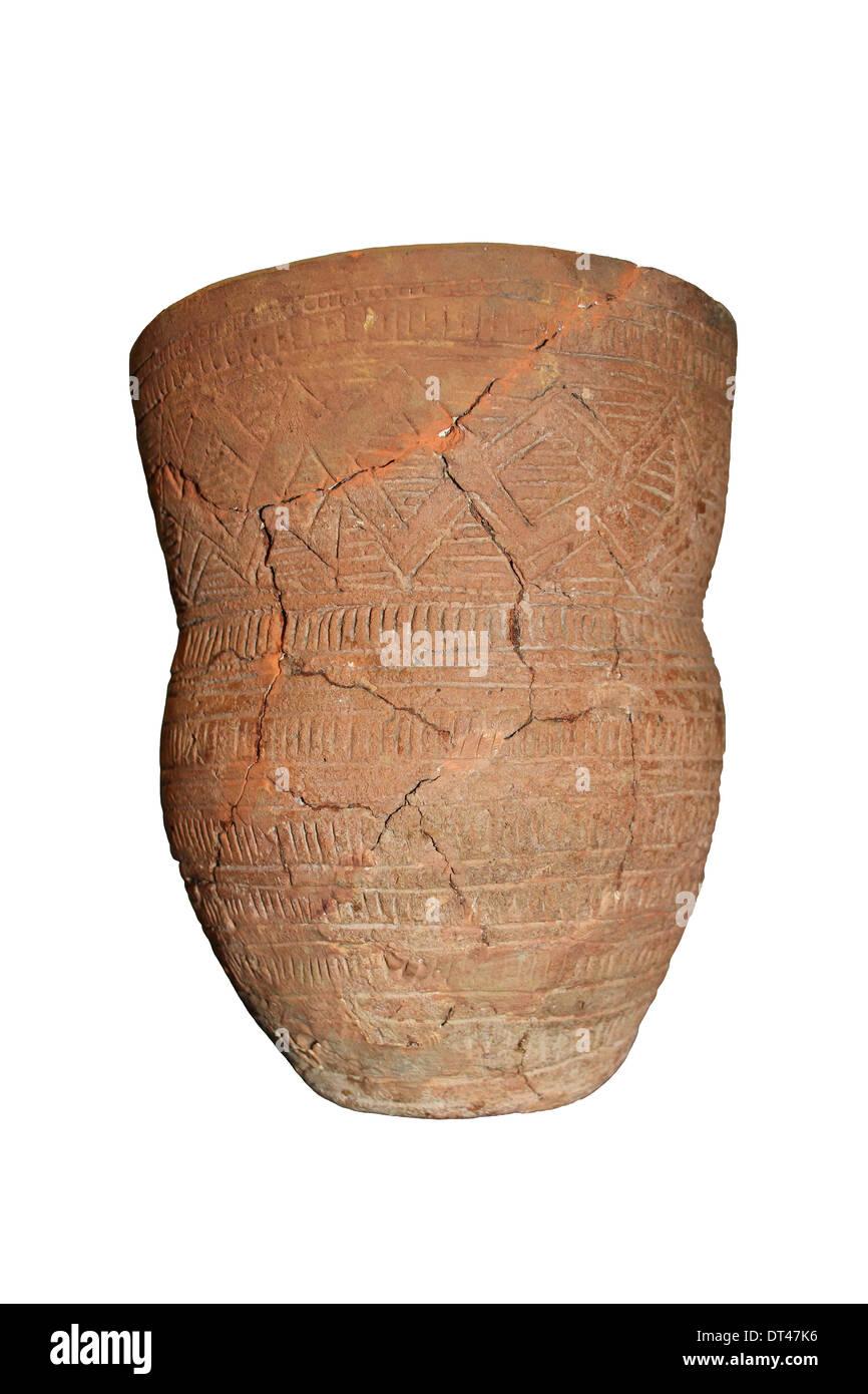 Neolithic Drinking Beaker, Ulceby, Lincolnshire, UK - Stock Image